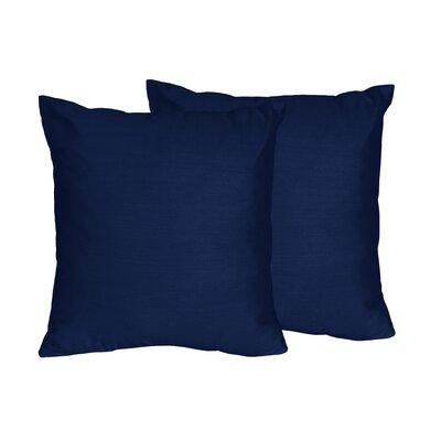 Sweet Jojo Designs Solid Navy Blue Microfiber Throw Pillow & Reviews Wayfair