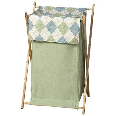 Sweet Jojo Designs Argyle Green Blue Laundry Hamper