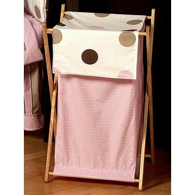 Mod Dots Pink Laundry Hamper by Sweet Jojo Designs