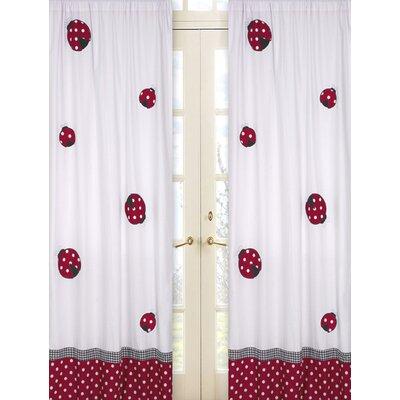 Sweet jojo designs little ladybug cotton curtain panels for Window cotton design