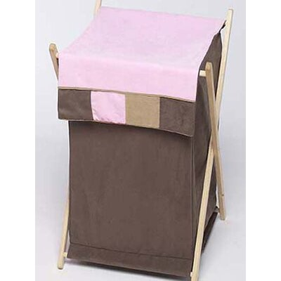 Soho Pink and Brown Laundry Hamper by Sweet Jojo Designs