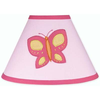 "Sweet Jojo Designs 10"" Butterfly Cotton Empire Lamp Shade"