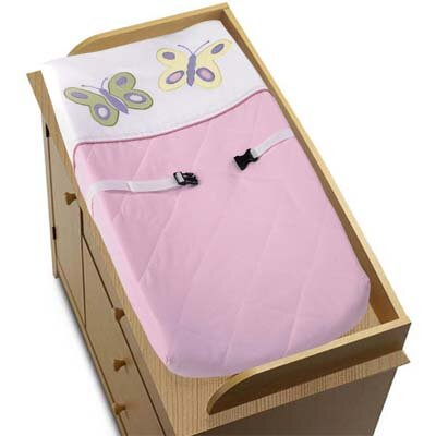 Sweet Jojo Designs Butterfly Pink and Purple Collection Changing Pad Cover