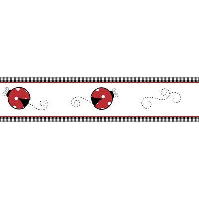 "Sweet Jojo Designs Little Ladybug 15' x 6"" Wildlife Border Wallpaper"