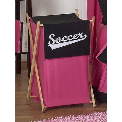 Soccer Pink Laundry Hamper by Sweet Jojo Designs