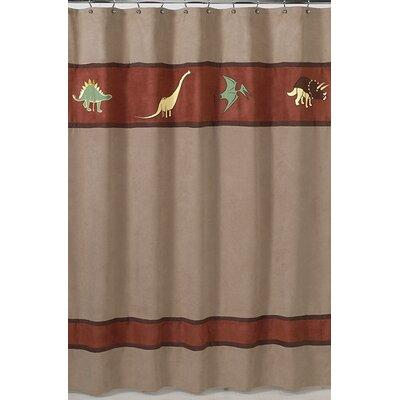Sweet Jojo Designs Dinosaur Land Microsuede Shower Curtain