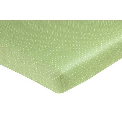 Olivia Fitted Polka Dot Crib Sheet by Sweet Jojo Designs