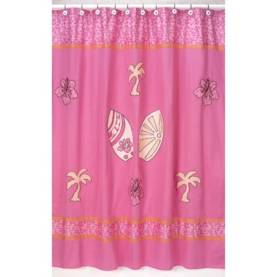 Sweet Jojo Designs Cotton Surf Shower Curtain