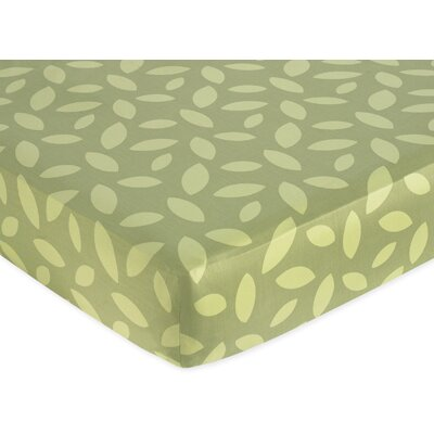 Jungle Time Green Leaf Fitted Crib Sheet by Sweet Jojo Designs