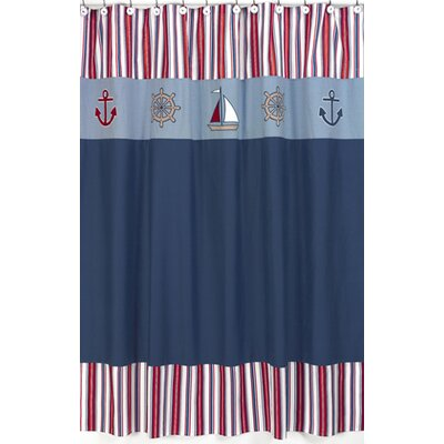 Sweet Jojo Designs Nautical Nights Shower Curtain ...