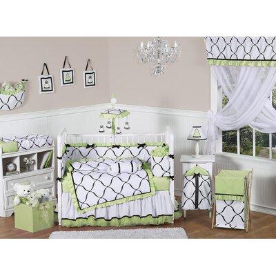 Sweet Jojo Designs Princess Black, White and Green Laundry Hamper