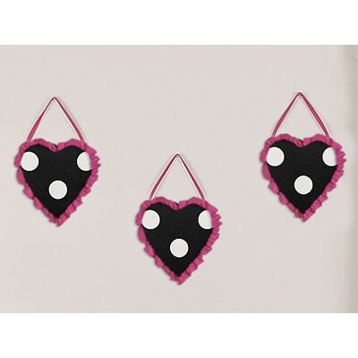 Sweet Jojo Designs 3 Piece Hot Dot Wall Hanging Set