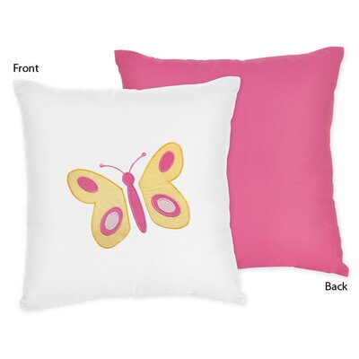 Sweet Jojo Designs Butterfly Cotton Throw Pillow
