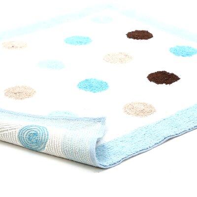 Sweet Jojo Designs Mod Dots Blue Collection Floor Rug