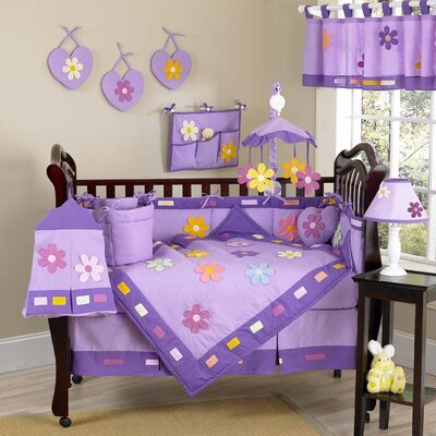 Danielle's Daisies 9 Piece Crib Bedding Set by Sweet Jojo Designs