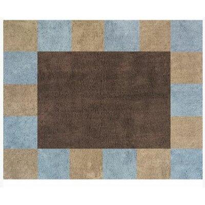 Sweet Jojo Designs Soho Blue and Brown Outdoor Area Rug