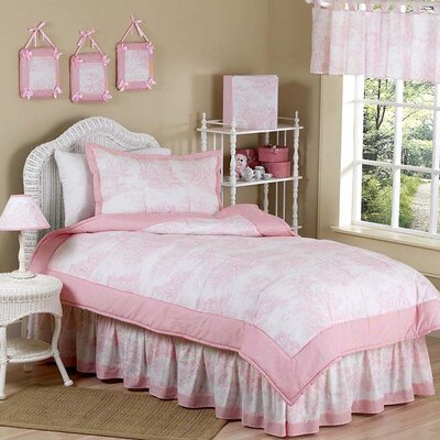Pink Toile Kid Bedding Collection by Sweet Jojo Designs