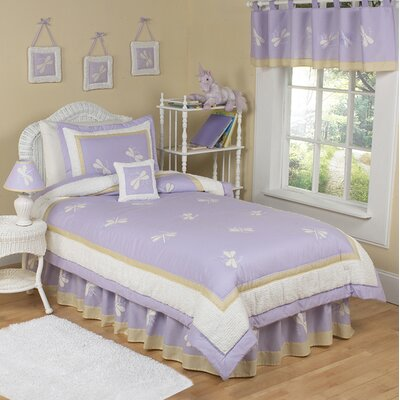 Purple Dragonfly Dreams Kid Twin Bedding Collection by Sweet Jojo Designs