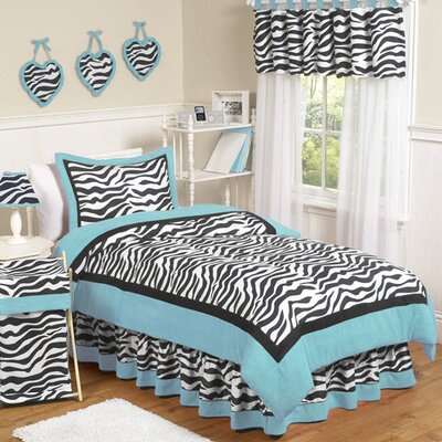 Zebra Turquoise Kid Bedding Collection by Sweet Jojo Designs
