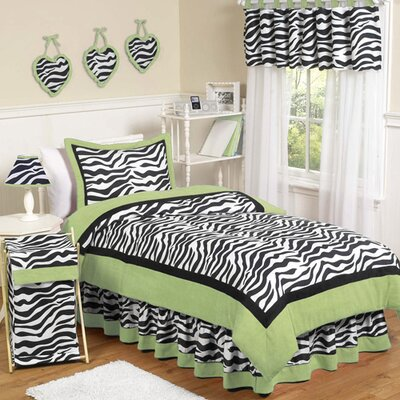 Zebra Lime Kid Bedding Collection by Sweet Jojo Designs