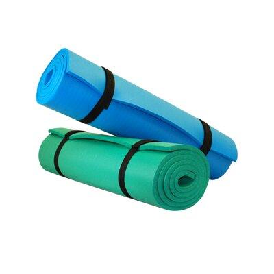 Pilates Aero Cushioned Yoga Exercise Mat by Yoga Direct