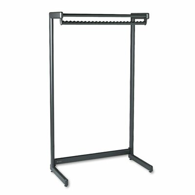 Wide Single Side Garment Rack with Shelf Product Photo