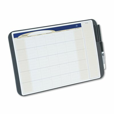 Quartet® Tack and Write Monthly Calendar Lap Whiteboard