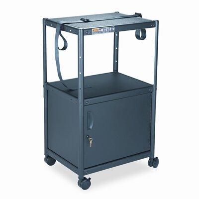 Quartet® 5-in-1 Adjustable-Height AV Cart with Cabinet