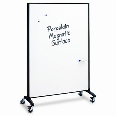Quartet® Motion Series Room Divider Partition, Fabric/Porcelain, 48w x 72h