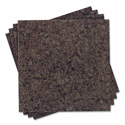 Quartet® Cork Panel Bulletin Board, 4 Panels/Pack