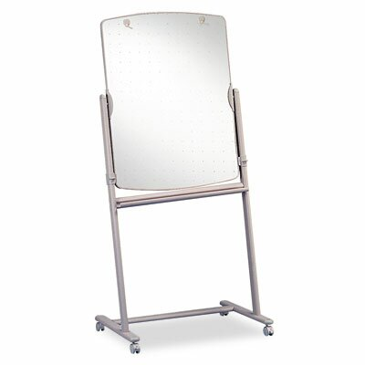 Quartet® Total Erase Mobile Free-Standing Reversible Graphic/Grid Whiteboard