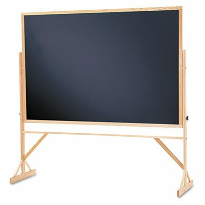 Quartet® Reversible Magnetic Free-Standing Chalkboard, 4' x 6'
