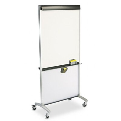 Quartet® 3-In-1 Easel Mobile Free-Standing Whiteboard, 6' x 3'