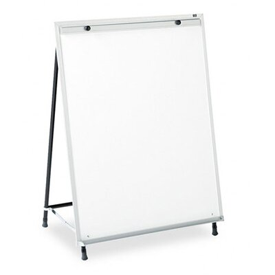 Quartet® Dry-Erase Steel Easel in White with Aluminum Frame