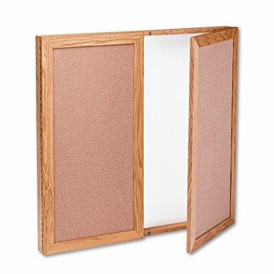 Quartet® Conference Cabinet Magnetic Bulletin Board, 3' x 3'