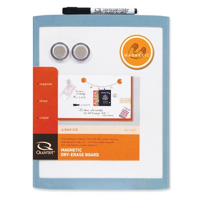 "Quartet® Magnetic Whiteboard, 8-1/2""x11"", Assorted Plastic Frame"