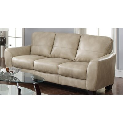 Fremont Leather Sofa by Chintaly
