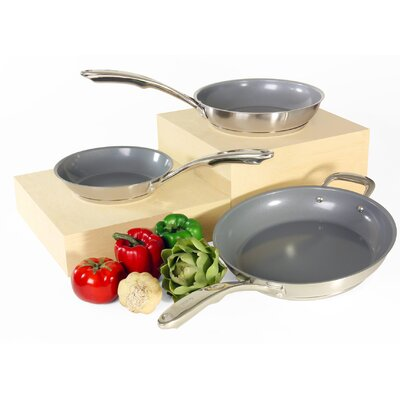 Induction 21 Steel 3 Piece Cookware Set by Chantal