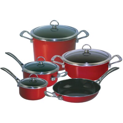 Chantal Copper Fusion Copper 9-Piece Cookware Set