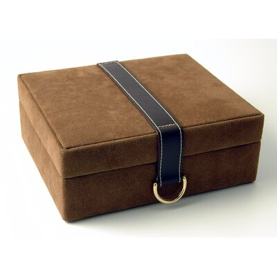 Budd Leather Faux Suede and Leather Jewelry Box