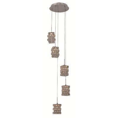 5 Light Kitchen Island Pendant by TransGlobe Lighting