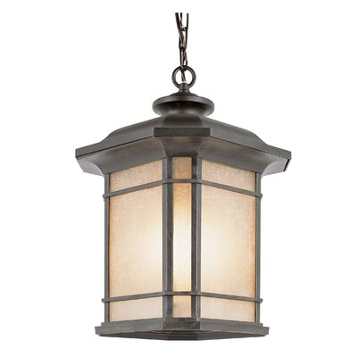 TransGlobe Lighting Corner Windows 3 Light Outdoor Hanging Lantern