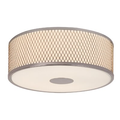 Diamond Grill 3 Light Semi-Flush Mount Product Photo