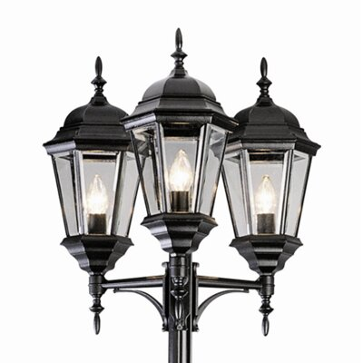 "TransGlobe Lighting 3 Light 98"" Post Lantern Set"