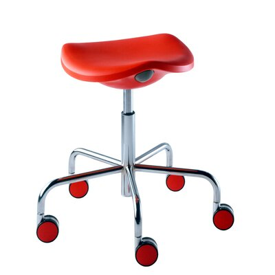 Rexite Welcome Stool on Castors with Gas Lift Adjustable Height