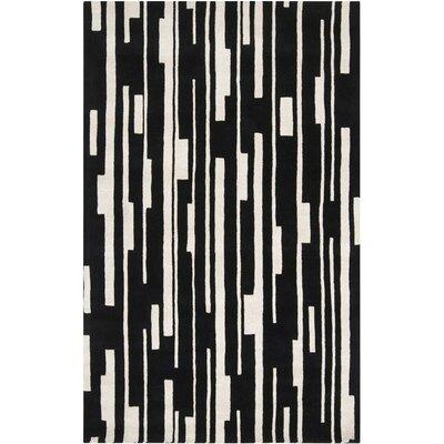Candice Olson Rugs Modern Classics Winter White/Jet Black Rug