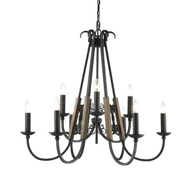 Margo 9 Light Candle Chandelier by Golden Lighting