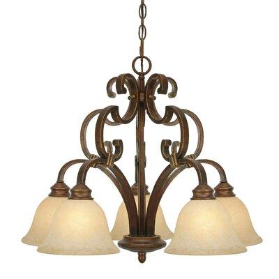 Rockefeller 5 Light Nook Chandelier by Golden Lighting