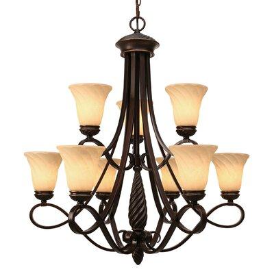 Golden Lighting Torbellino 9 Light Chandelier