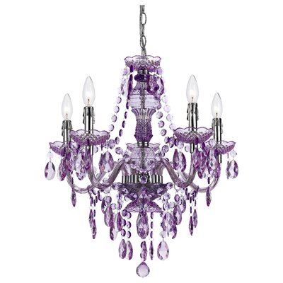 5 Light Crystal Chandelier Product Photo